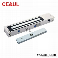 YLI YM-280(LED) Single door magnetic lock with LED and signal(600Lbs) CE UL MA