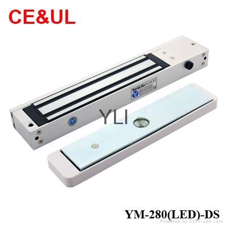 意林品牌 YM-280(LED)-DS 280kg磁力鎖帶門磁和鎖雙信號 LED CE UL MA 1