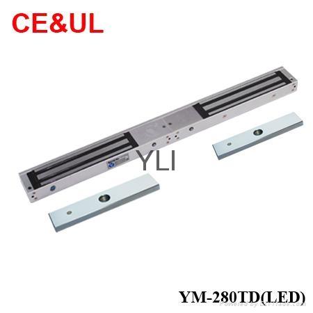 意林品牌YLI YM-280TD(LED)280kg雙門電子磁力鎖帶信號LED和延時功能 CE UL MA 1