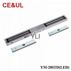 意林品牌YLI YM-280TD(LED)280kg雙門電子磁力鎖帶信號LED和延時功能 CE UL MA