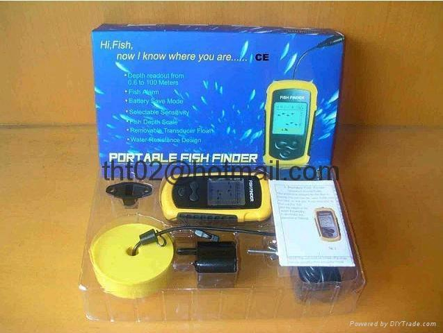 """Fish Finder with Sonar sensor 9 meter cable 2"""" Anti-UV LCD Freeshipping 2"""