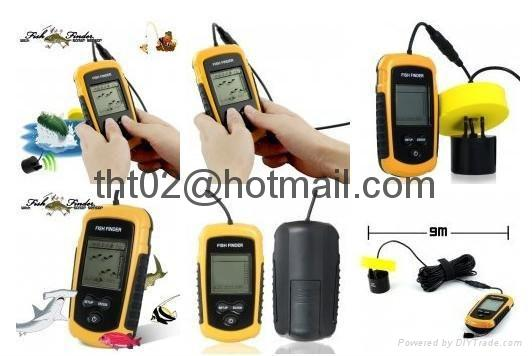 """Fish Finder with Sonar sensor 9 meter cable 2"""" Anti-UV LCD Freeshipping 3"""