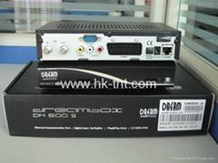 黑色的DREAMBOX DM500S 共享电视机顶盒
