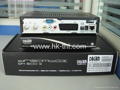 黑色的DREAMBOX DM500S 共享電視機頂盒