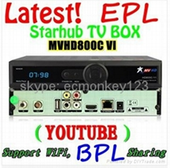 新加坡專用星河高清機頂盒MVHD800C-VI 能看高清頻道和EPL