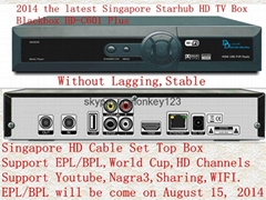 新加坡专用星河高清机顶盒HD-C601 Plus Black Box能看 BPL & 高清频道和World Cup