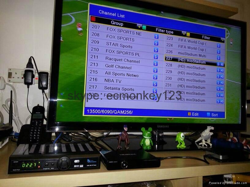 2014 singapore starhub tv box  Black box HD-C601 Plus HDC600 MUX  support BPL HD 4