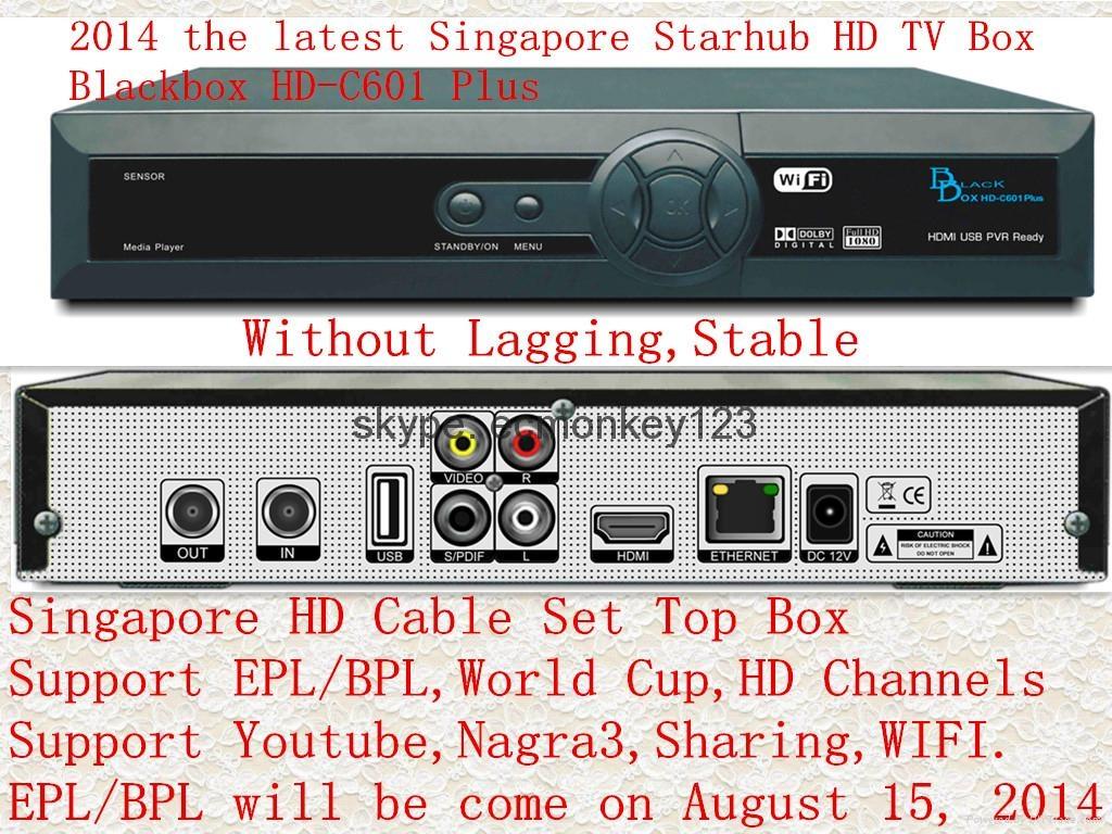 2014 singapore starhub tv box  Black box HD-C601 Plus HDC600 MUX  support BPL HD 1