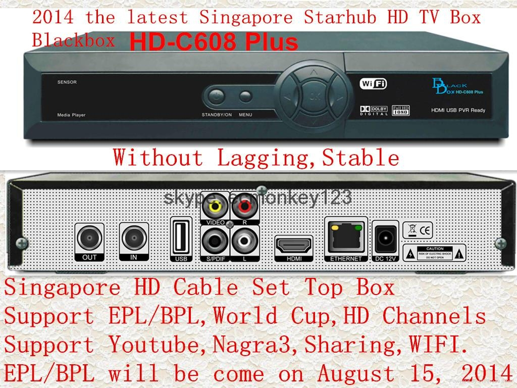 2014 singapore starhub tv box  Black box HD-C608 Plus HDC600 MUX  support BPL HD 4