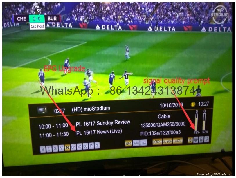 2017 latest stable singapore starhub tv box V8 Golden HD box  support EPL  3