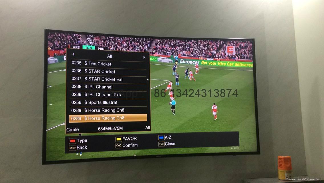 2017 latest stable singapore starhub tv box V8 Golden HD box  support EPL  4