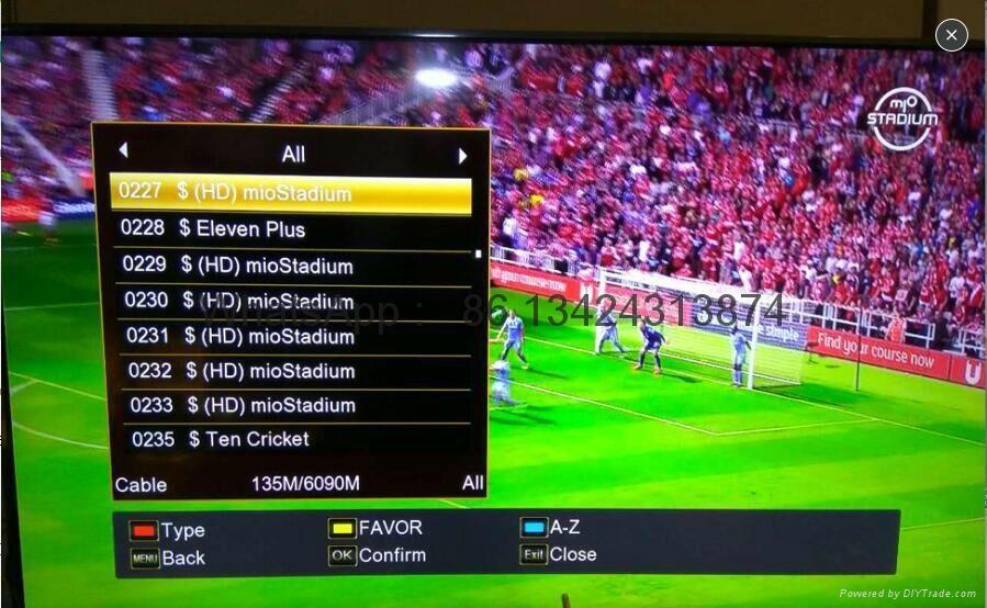 新加坡专用星河高清机顶盒V8 Golden box能看 EPL & 高清频道&所有的Starhub频道  14