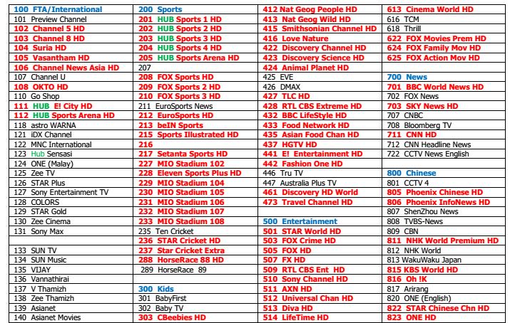 新加坡專用星河高清機頂盒V9 Pro box能看 2018世界杯 & EPL &所有的Starhub頻道  18