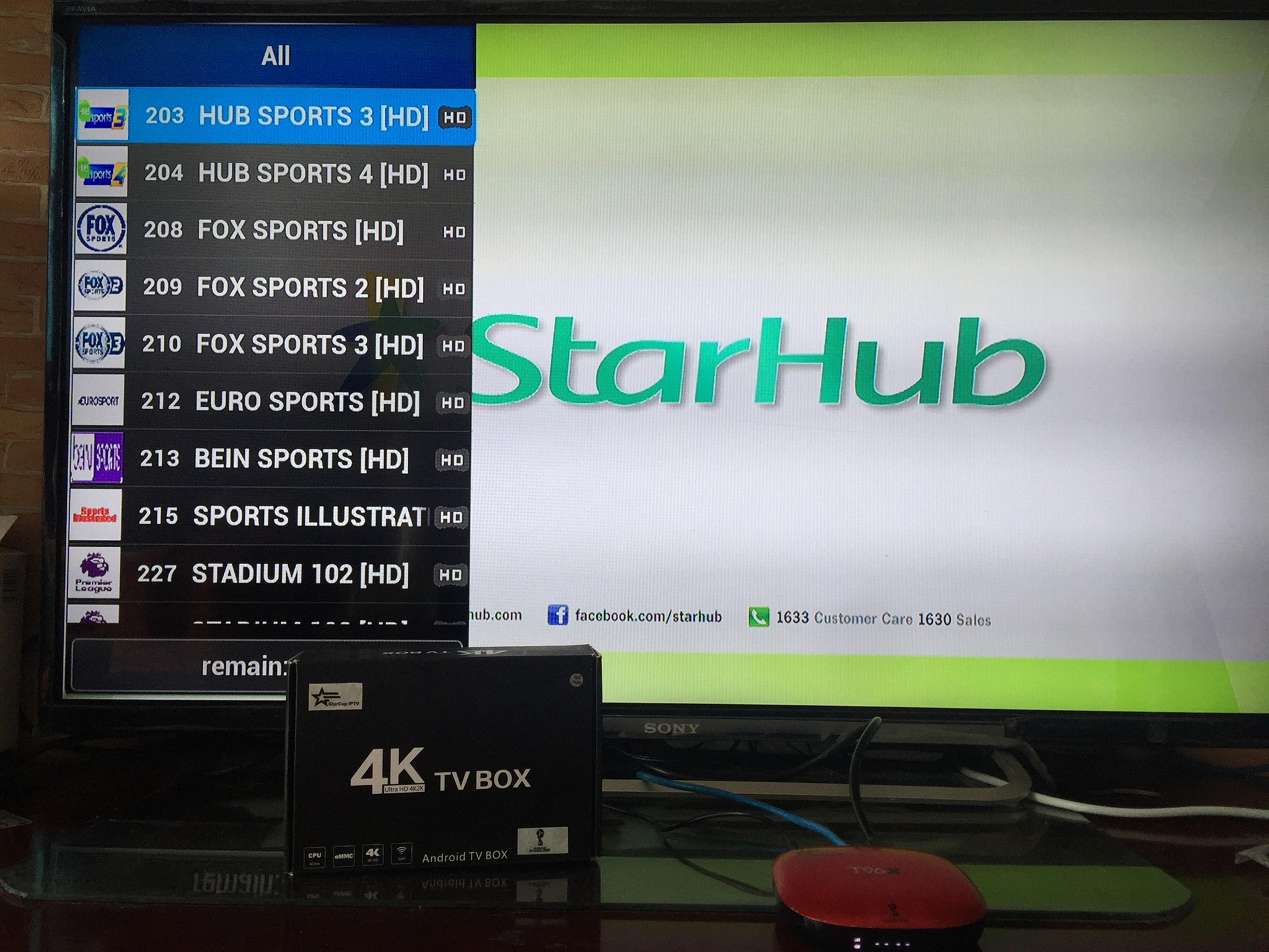 StarCup IPTV Singapore with all live Starhub tv channels and