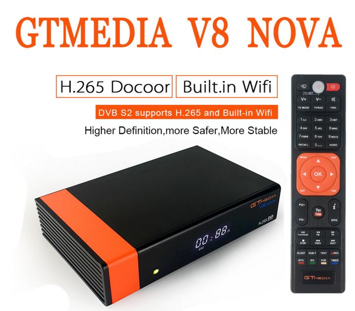 2019 Latest GTMedia V8 NOVA H.265 DVB-S2 HD Satellite Receiver built in wifi