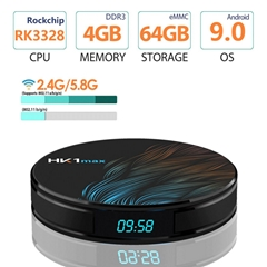 4K Smart TV BOX Android 9.0 RK3328 4GB 64GB HK1 MAX TV receiver  Media player