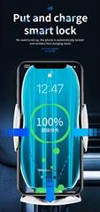 H8 Car Wireless Charger Sensor 15W Automatic Phone Wireless Charging Bracket