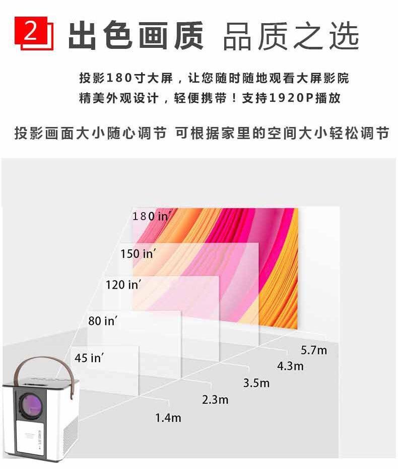 2021 安卓智能投影儀 智能投影 家用高清投影儀 2