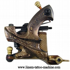 Damascus Steel Handmade Tattoo Machine 10 wrap Coil