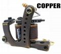 handmade Copper Tattoo Machine 10 wrap