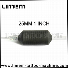 1 Inch 25mm Tattoo Silicone Disposable Grip Transparent Clear Tube Soft comfort