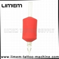 2016 New 6/5 Inch 30mm Red Color Tattoo Silicone Disposable Grip Can OEM