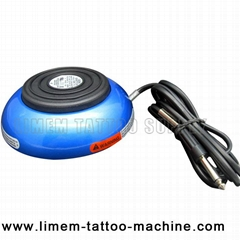 Heavy Duty Round 360 Tattoo Foot Pedal Foot Switch Blue
