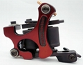 Handmade Iron Professional Tattoo Machine 10 Wrap Coils Red
