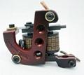Handmade Iron Professional Tattoo Machine 10 Wrap Coils Red