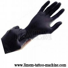 Tattoo Black Latex Glove