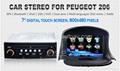 Car Stereo for Peugeot 206 GPS Satnav