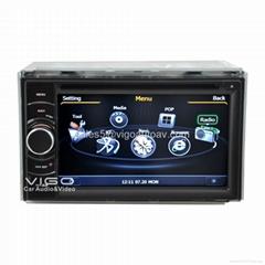 Double Din Stereo Universal Car GPS Navigation Autoradio Bluetooth Headunit DVD
