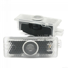 2PCS Car Projector Shadow Welcome Logo Ghost Door LED Light for Mercedes Benz