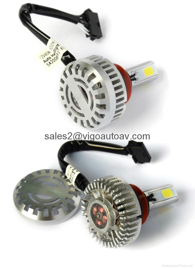 h8 h9 h11 auto led headlights bulbs conversion kit 7200lm 6000k light cob led va340h11 vigo. Black Bedroom Furniture Sets. Home Design Ideas