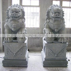 stone carving ,Lion statues,carvings