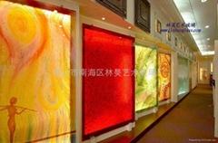 藝朮玻璃背景牆