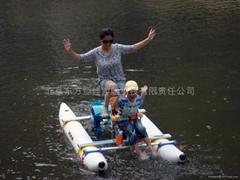 母子水上自行車