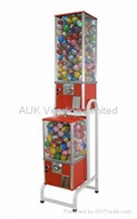 capsule toy vending machine 2 head with rack