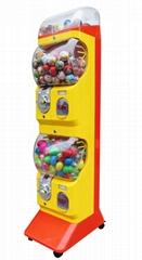 游乐场用豪华扭蛋机 双层豪华扭蛋机配滑轮 大型超市用大型扭蛋机