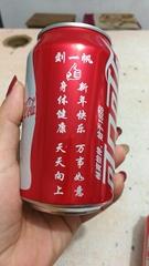 可口可乐个性激光刻字加工