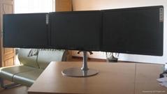 桌面式三屏顯示器支架