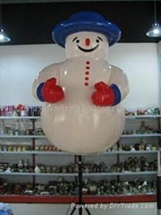 inflatable snowman outdoor