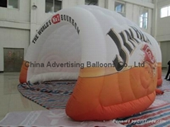 Luna Inflatable Tent with logo