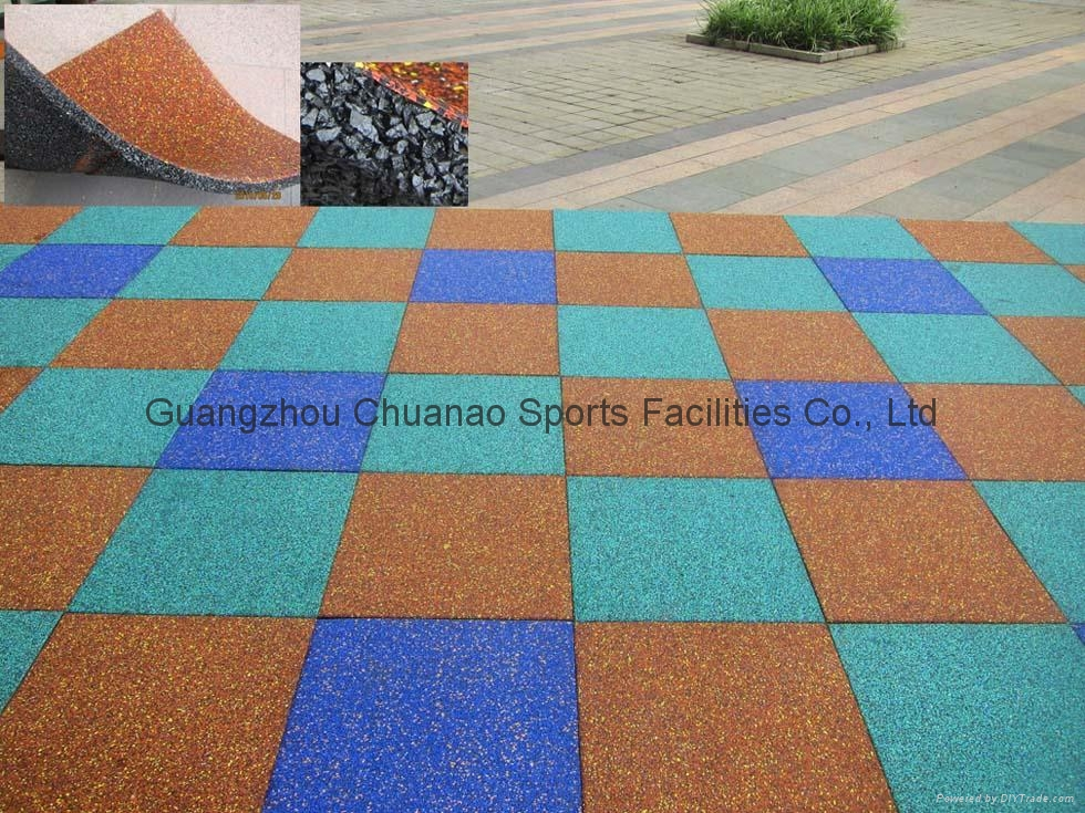 Safety Rubber Tile Flooring Mat For Playground And Kindergarten 1