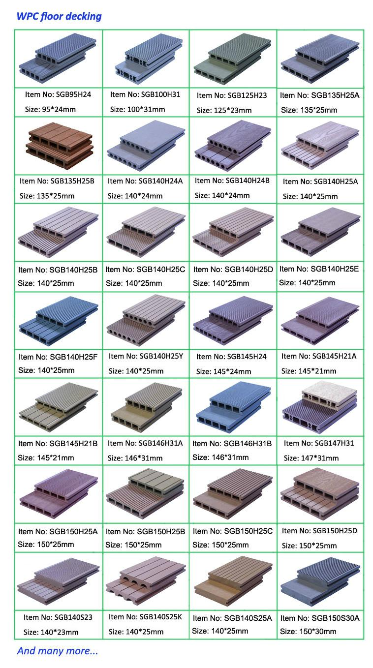 wood plastic decking wpc composite flooring 3