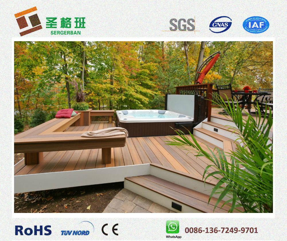 wood plastic decking wpc composite flooring 1