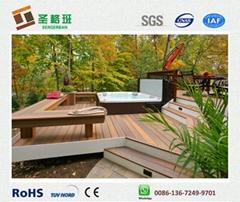 wood plastic decking wpc composite flooring