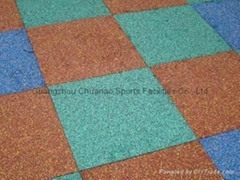 Rubber tile, rubber flooring, rubber mat for kindergartens used