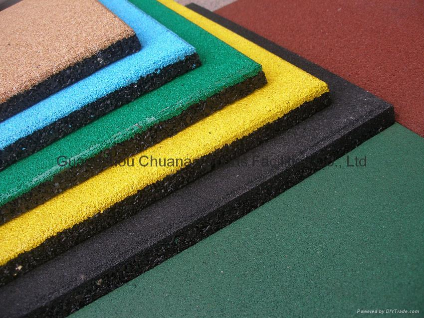 Safety Rubber Tile Rubber Flooring Rubber Mat For