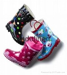Rubber rain boots  Children rubber rain boots